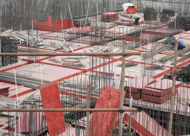 建筑模板工地使用现场图片